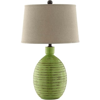 Kirkstall Ceramic 1-light Tuscan Garden Green Table Lamp