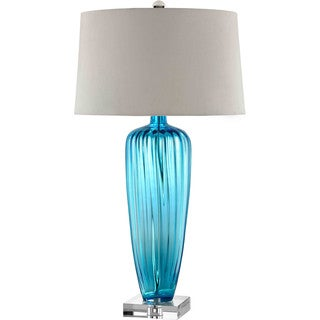 Duncombe Park 1-light Blue Table Lamp