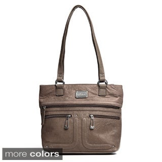 Stone Mountain 'Greenfield' Leather Tote Bag