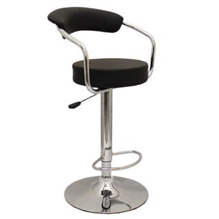 'Uptown' 43-inch Chrome Adjustable Height Swivel Bar Chair