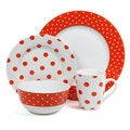 Isaac Mizrahi Dot Luxe 16-piece Orange Dinnerware Set