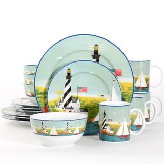 Gibson Home Coastal Breeze 16-piece Dinnerware Set