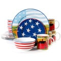 Gibson Home Fine Ceramic Decal America the Beautiful 16-piece Dinnerware Set
