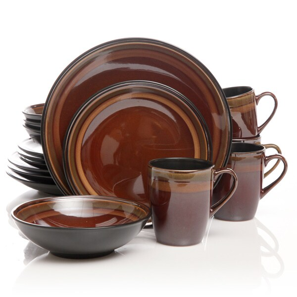 Gibson Elite Tequesta Red 16-piece Dinnerware Set