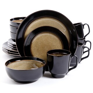 Bella Galleria 16-piece Taupe Stoneware Dinnerware Set