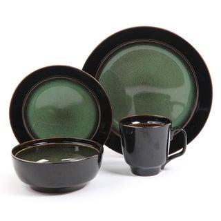 Bella Galleria 16-piece Green Stoneware Dinnerware Set