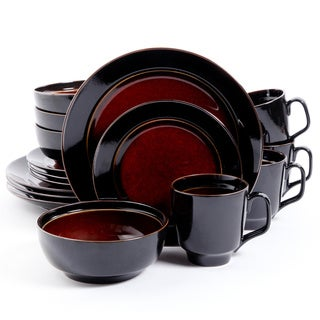 Bella Galleria 16-piece Red Stoneware Dinnerware Set