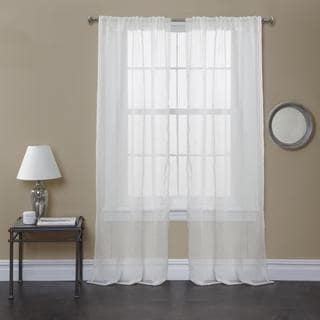 Lush Decor White Bright Morning Sheer 84 inch Curtain Panel Pair