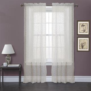 Lush Decor Ivory 84-inch Duke Garden Curtain Panel Pair