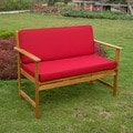 International Caravan Royal Tahiti Gulf Port Outdoor Settee/ Bench with Cushions