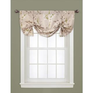 Lush Decor Linen 18-inch Roslyn Window Valance