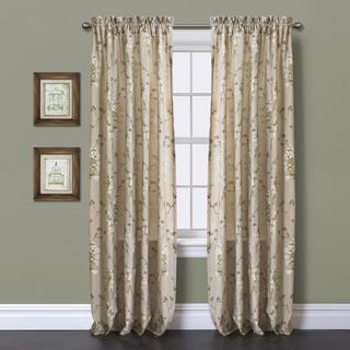 Lush Decor Roslyn Linen 84 inch Curtain Panel
