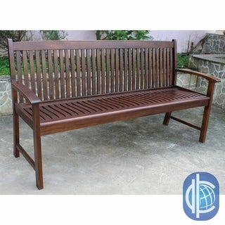 International Caravan 'Hudson' 3-person Acacia Hardwood Outdoor Bench