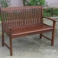 International Caravan 'Hudson' Acacia 2-person Hardwood Bench