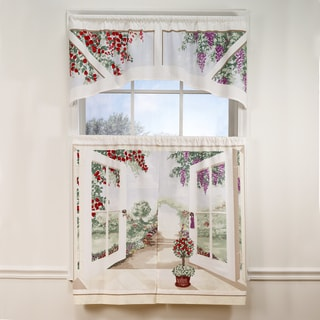 Cottage Garden 36-inch Tier and Valance Set