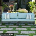 Astoria Aluminum Outdoor 2-piece Sofa Set with Cushions