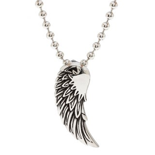 Spikes 316L Stainless Steel Fallen Angel Wing Pendant
