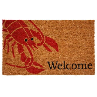 'Lobster' Coir/ Vinyl Weather-resistant Doormat (1'5 x 2'5)