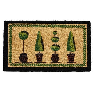 'Topiary' Coir/ Vinyl Weather-resistant Doormat (1'5 x 2'5)