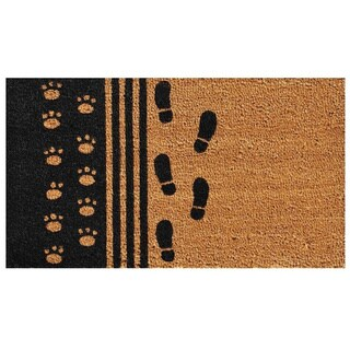 'Man's Best Friend' Coir/ Vinyl Weather-resistant Doormat (1'5 x 2'5)