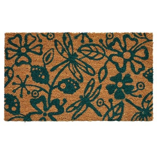'Dragonflies' Coir/ Vinyl Weather-resistant Doormat (1'5 x 2'5)