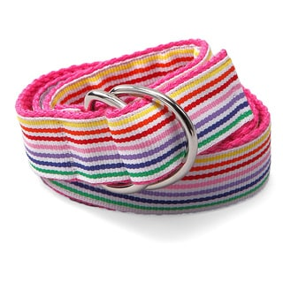 Superflykids 'Rainbow Splash' Multicolored D-ring Belt
