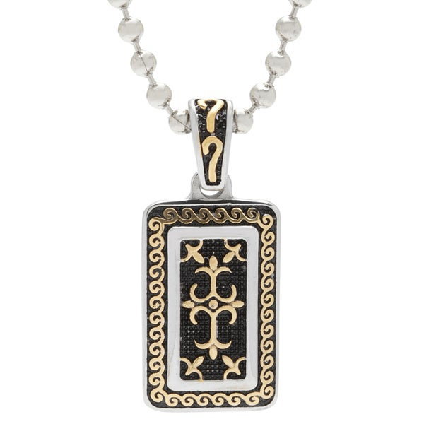 Spikes 316L Stainless Steel Gold Royal Cross Dog Tag Pendant