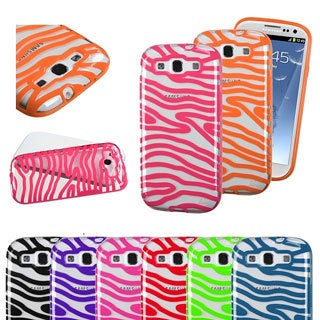 INSTEN Transparent Zebra Phone Case Cover for Samsung Galaxy S3