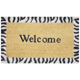 Safari Welcome Natural Coir Vinyl Backing Doormat (1'5 x 2'5)