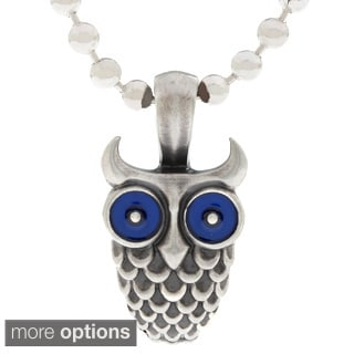 Bico Australia Pewter Owl Pendant Necklace