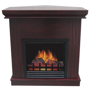 Boston Dark Cherry Corner Electric Fireplace