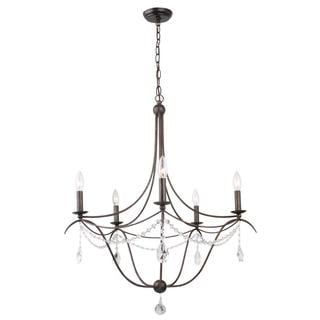 Metro ll 5-light English Bronze Chandelier
