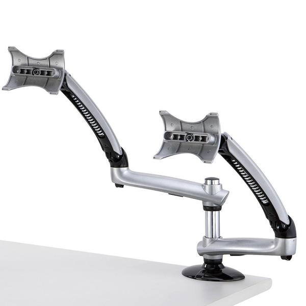 Cotytech Silver Dual Apple Desk Mount Spring Arm