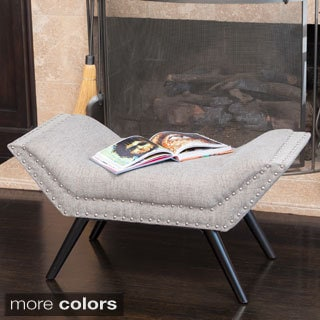 Christopher Knight Home Rosalynn Tufted Fabric Ottoman/Bench