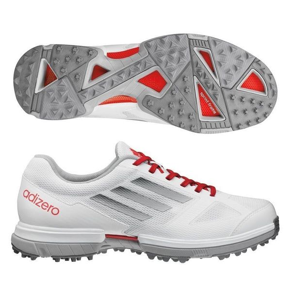 Adidas Women's Adizero Sport White/ Silver/ Punch Golf Shoes