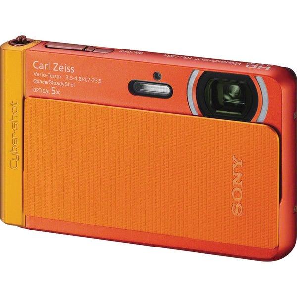 Sony Cyber-shot DSC-TX30 18.2 Megapixel Compact Camera - Orange 12488688