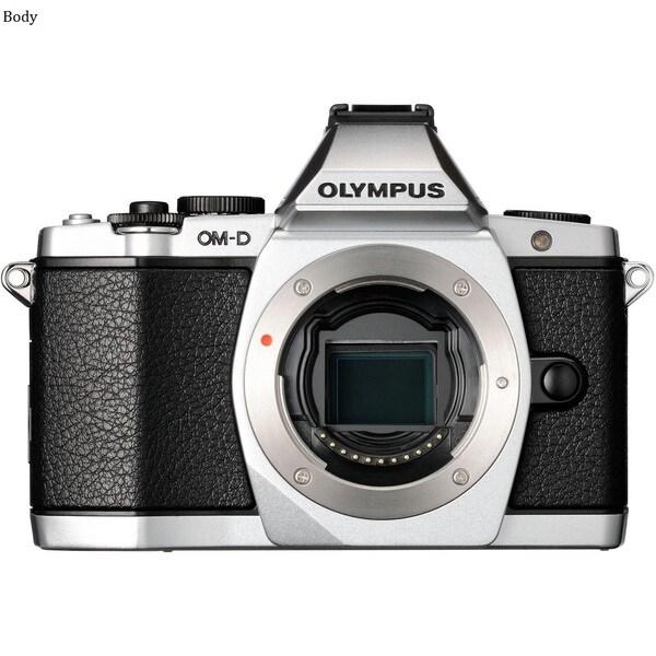 Olympus OM-D E-M5 16.1 Megapixel Mirrorless Camera (Body Only) - Silv