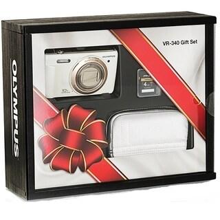 Olympus VR-340 16MP White Digital Camera Gift Pack