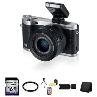 Samsung NX300 Mirrorless Digital Camera 20-50mm ED II Lens 16GB Bundle
