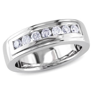 Miadora 14k White Gold 1/2ct TDW Diamond Anniversary Ring (I-J, I1-I2)
