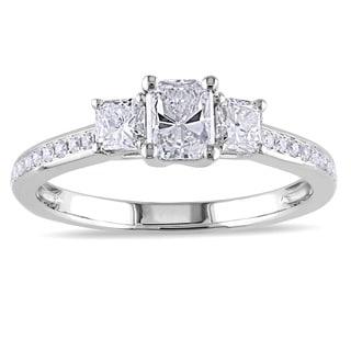 Miadora Signature Collection 14k White Gold 1ct TDW Radiant-cut Diamond Ring (G-H, I1-I2)