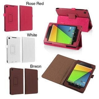 BasAcc PU Folio Leather with Stand Cover Case for Google New Nexus 7 2013