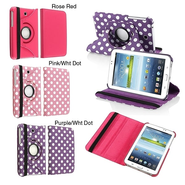 INSTEN 360 Rotating Swivel Stand PU Leather Tablet Case Cover for Samsung Tab 3 7.0 P3200