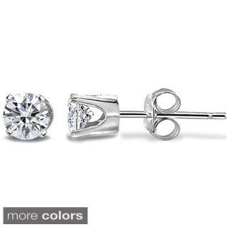 DB Designs 14k Gold 1/5ct TDW Diamond Round Stud Earrings (G-H, I2-I3)