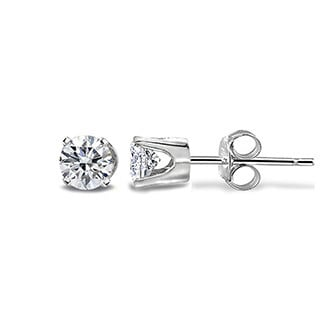 14k Gold 1/3ct TDW Diamond Round Stud Earrings