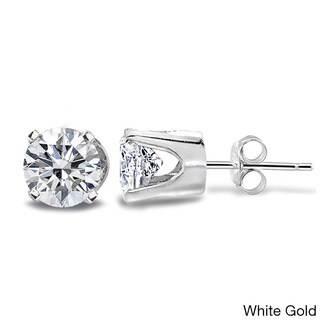 DB Designs 14k Gold 1/2ct TDW Diamond Round Stud Earrings (G-H, I2-I3)