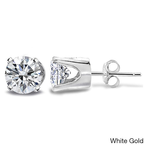 DB Designs 14k Gold 1ct TDW Diamond Round Stud Earrings (G-H, I2-I3)