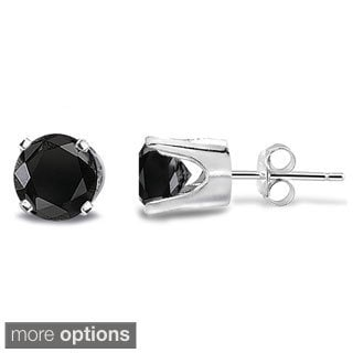 DB Designs 14k Gold 1/4ct TDW Black Diamond Round Stud Earrings (I2-I3)