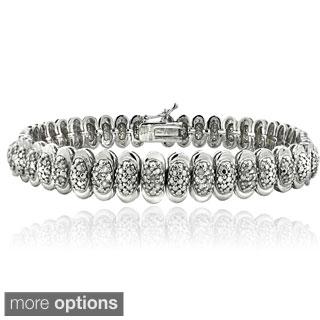 DB Designs 1ct TDW Diamond Oval Tennis Bracelet (I-J, I2-I3)