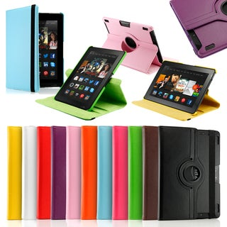 Gearonic PU Leather with Swivel Stand for New Kindle Fire HDX 8.9-inch